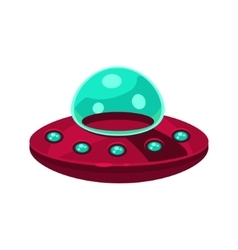 Flying saucer toy aircraft icon vector