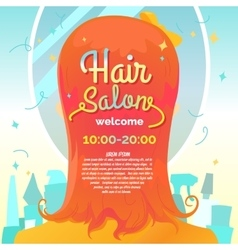 Hair salon and poster vector