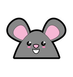 Little mouse kawaii cartoon vector