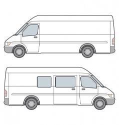 Minibus illustration vector
