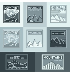 Mountains logo travel vector image vector image