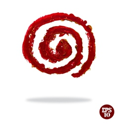 Oil painted spiral icon vector