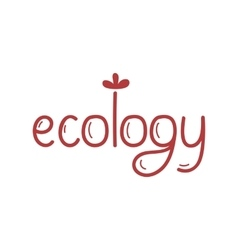 Organic food label Logo for vegan menu or food vector image vector image