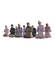 Ramadan prayers vector