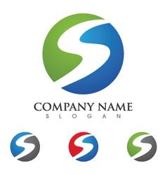S letter logo template vector