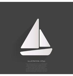 Sailboat ship icon vector image