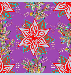 seamless pattern in vintage style with bouquets vector image
