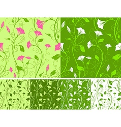 Seamless spring patterns vector image vector image