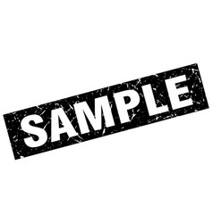 Square grunge black sample stamp vector