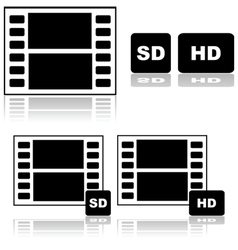Standard and high definition movies vector