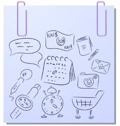 Sticker collection vector image