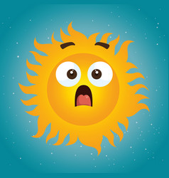summer sun face cartoon vector image