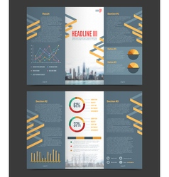 Two fold flyer template vector
