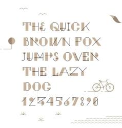Vintage hipster geometric font vector