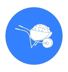 Wheelbarrow icon in black style isolated on white vector image vector image