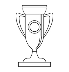 Winning cup icon outline style vector