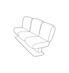 Seat on plane icon outline style vector