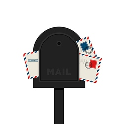 Mailbox letter flat design vector image
