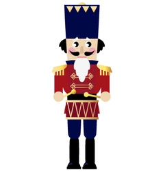 Cute retro nutcracker vector