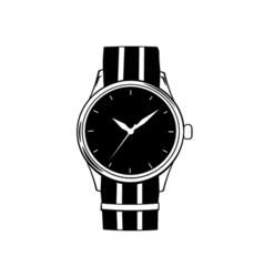 Hand watch icon isolated on white vector image