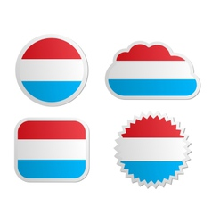 Luxembourg flag labels vector