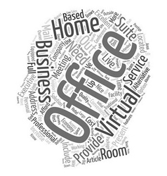 How can a virtual office help my home based vector
