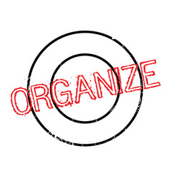 Organize rubber stamp vector