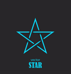 Star flat abstract symbol popularity concept vector