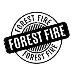 Forest fire rubber stamp vector