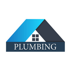 Plumbing for home sign vector