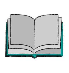 Open blank book icon image vector