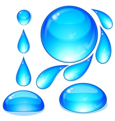 Water drops bubbles set vector