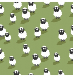 Seamless sheep vector