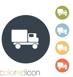 Truck logistic icon vector