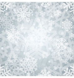 Shiny silver light snowflakes seamless pattern for vector