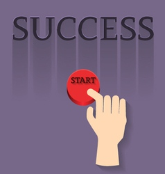 Finger with star to success vector