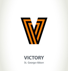 Symbol for victory day made of st george ribbon vector