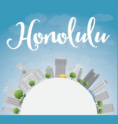 Honolulu Hawaii skyline vector image