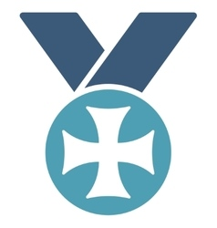 Maltese medal icon from competition  success vector