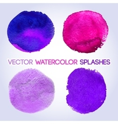 Violet shades watercolor round shaped design vector