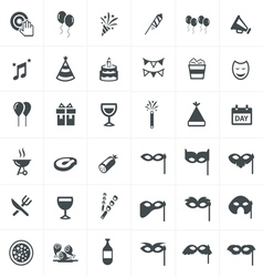 Party icons set design set vector