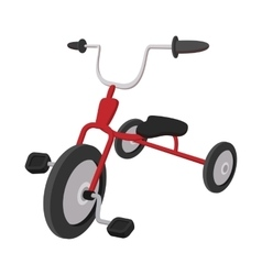 Children red tricycle cartoon icon vector