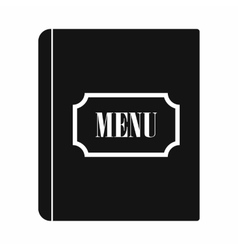 Restaurant menu black simple icon vector image