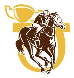 Horse racing vector