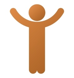Hands up child gradient icon vector