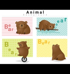 Animal background with bears 1 vector