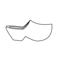 Clogs icon outline style vector