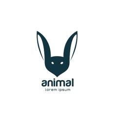 Abstract animal face logo template rabbit vector