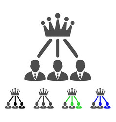 Administration crown flat icon vector