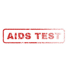 Aids test rubber stamp vector